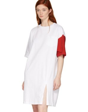 photo White and Red California Club T-Shirt Dress by SJYP - Image 4