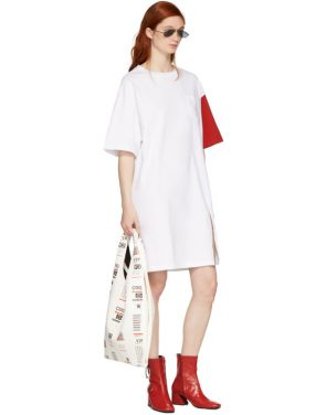 photo White and Red California Club T-Shirt Dress by SJYP - Image 5