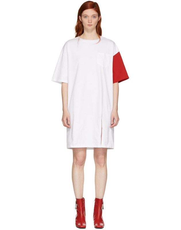photo White and Red California Club T-Shirt Dress by SJYP - Image 1