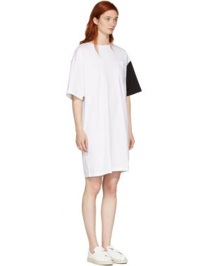 photo White and Black California Club T-Shirt Dress by SJYP - Image 2