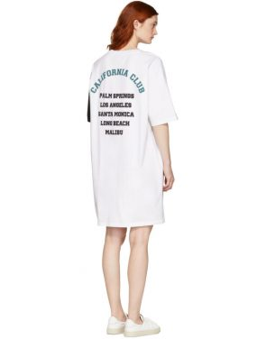 photo White and Black California Club T-Shirt Dress by SJYP - Image 3