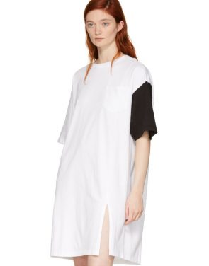 photo White and Black California Club T-Shirt Dress by SJYP - Image 4