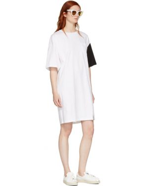 photo White and Black California Club T-Shirt Dress by SJYP - Image 5