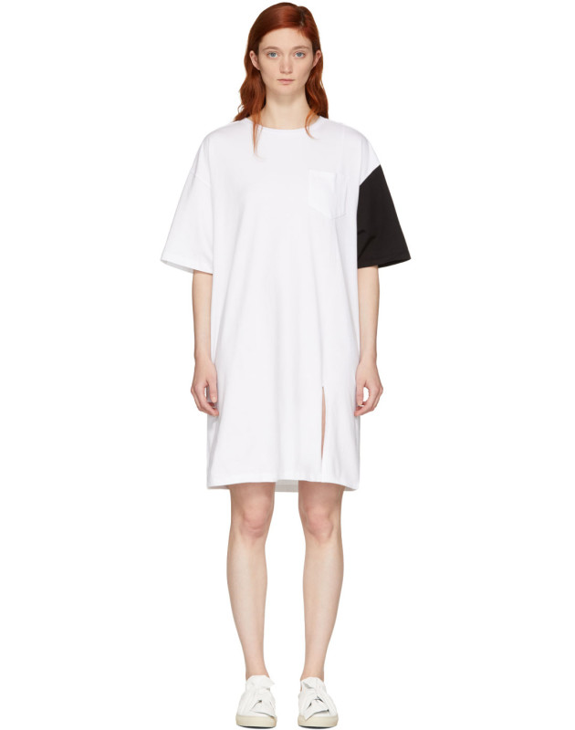 photo White and Black California Club T-Shirt Dress by SJYP - Image 1