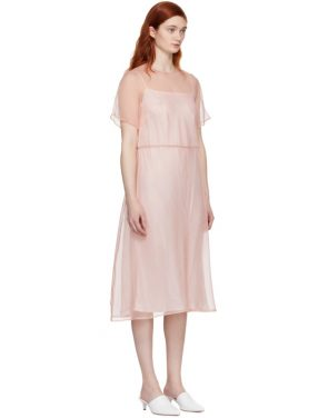 photo Pink Silk Voluminous Dress by Mansur Gavriel - Image 2