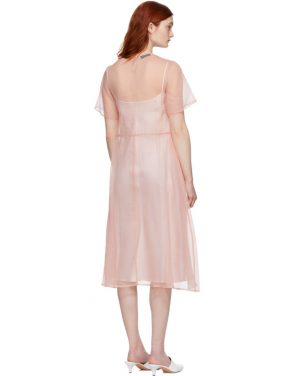 photo Pink Silk Voluminous Dress by Mansur Gavriel - Image 3
