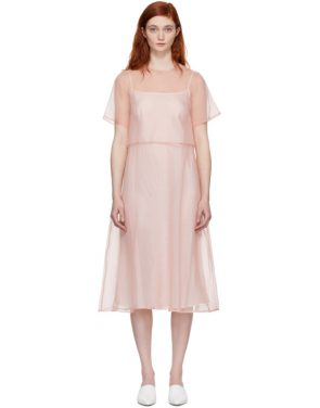 photo Pink Silk Voluminous Dress by Mansur Gavriel - Image 1