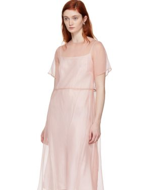 photo Pink Silk Voluminous Dress by Mansur Gavriel - Image 4