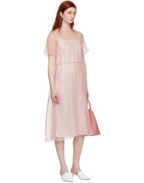 photo Pink Silk Voluminous Dress by Mansur Gavriel - Image 5