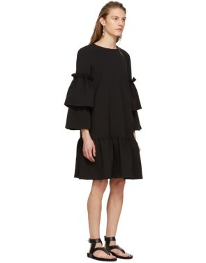 photo Black Tiered Sleeve Full Peplum Dress by Edit - Image 2