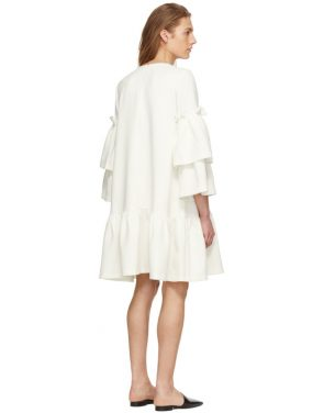 photo Off-White Tiered Sleeve Full Peplum Dress by Edit - Image 3