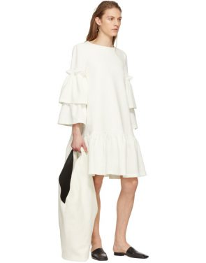 photo Off-White Tiered Sleeve Full Peplum Dress by Edit - Image 4
