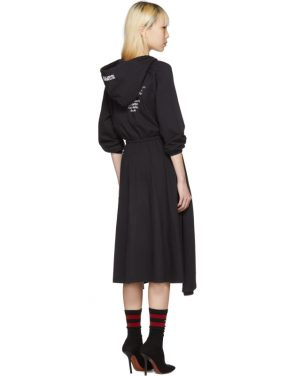 photo Black Hometown Hooded Jersey Dress by Vetements - Image 3