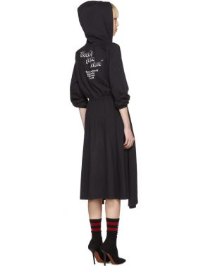 photo Black Hometown Hooded Jersey Dress by Vetements - Image 4
