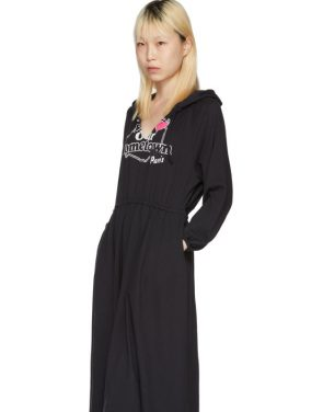photo Black Hometown Hooded Jersey Dress by Vetements - Image 5