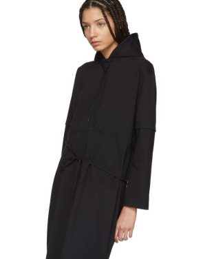 photo Black Panelled Hooded Dress by Vetements - Image 4