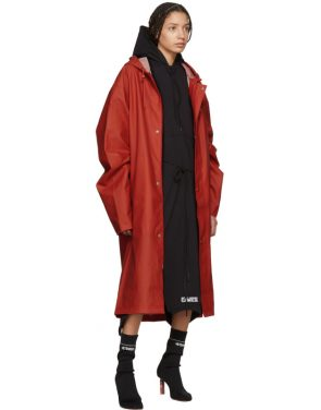 photo Black Panelled Hooded Dress by Vetements - Image 5