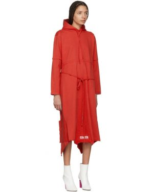 photo Red Panelled Hooded Dress by Vetements - Image 2
