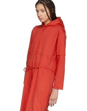 photo Red Panelled Hooded Dress by Vetements - Image 4