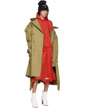 photo Red Panelled Hooded Dress by Vetements - Image 5