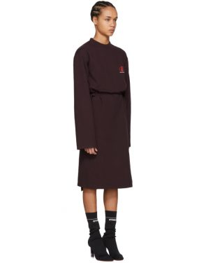 photo Burgundy Jersey Logo Dress by Vetements - Image 2