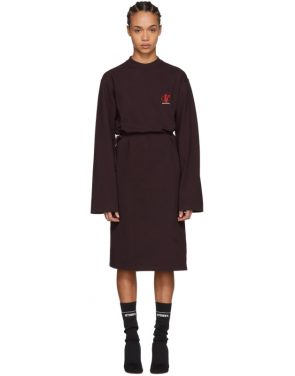 photo Burgundy Jersey Logo Dress by Vetements - Image 1