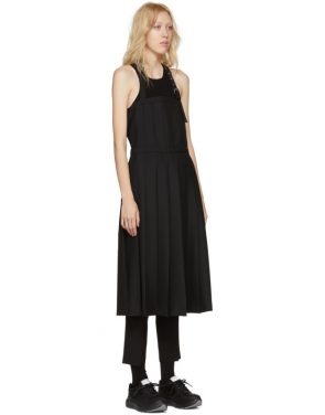 photo Black Wool Pleated Apron Dress by Noir Kei Ninomiya - Image 2
