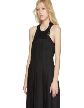 photo Black Wool Pleated Apron Dress by Noir Kei Ninomiya - Image 4