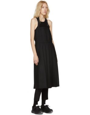 photo Black Wool Pleated Apron Dress by Noir Kei Ninomiya - Image 5