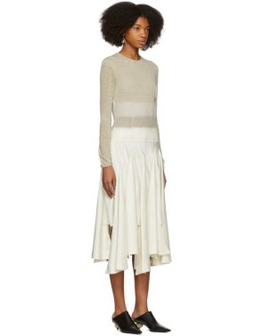 photo Beige Needle Punch Dress by Loewe - Image 2