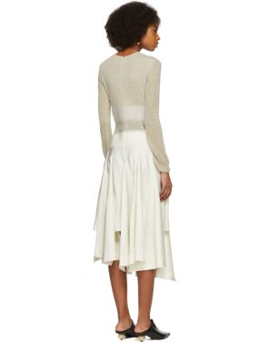 photo Beige Needle Punch Dress by Loewe - Image 3