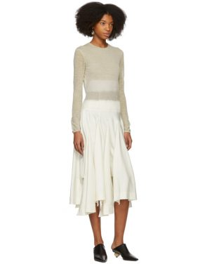photo Beige Needle Punch Dress by Loewe - Image 5