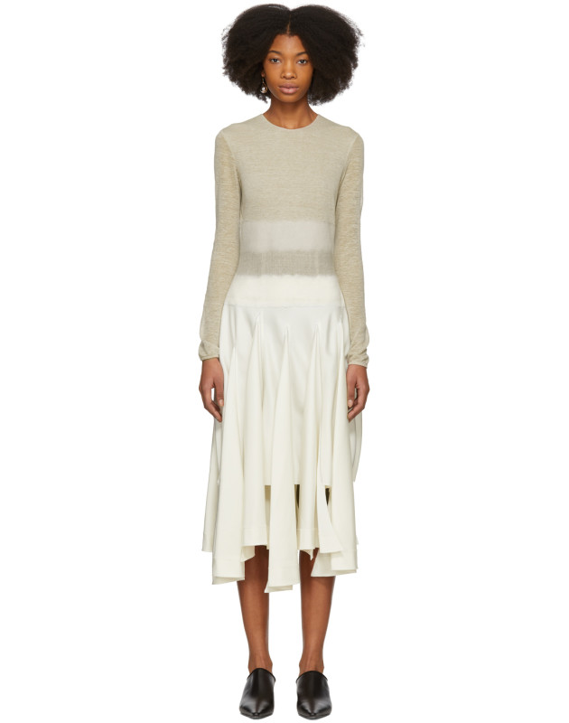 photo Beige Needle Punch Dress by Loewe - Image 1