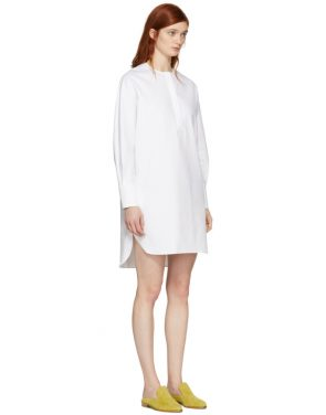photo White Riva Shirt Dress by Harmony - Image 2