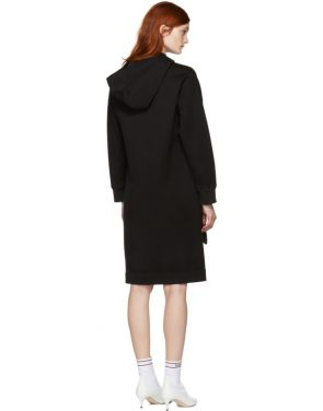 photo Black Pearls Bow Hoodie Dress by Fendi - Image 3