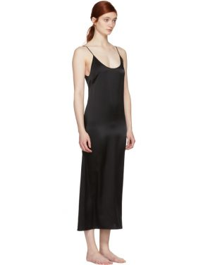 photo Black Silk Slip Dress by Araks - Image 2