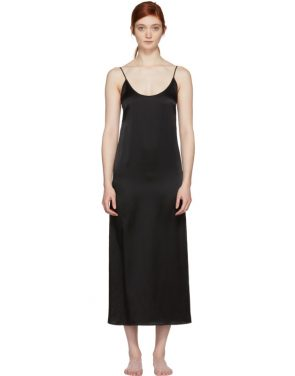 photo Black Silk Slip Dress by Araks - Image 1