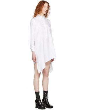 photo White Asymmetric Shirt Dress by Marques Almeida - Image 2