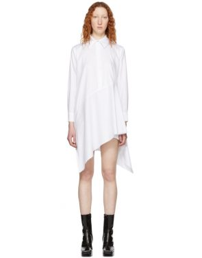 photo White Asymmetric Shirt Dress by Marques Almeida - Image 1