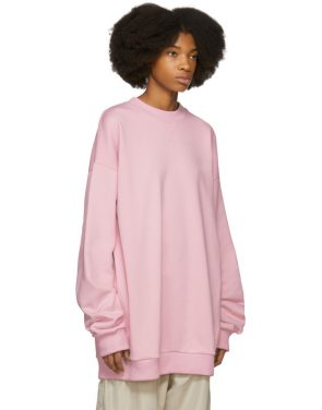 photo Pink Oversized Sweatshirt Dress by Marques Almeida - Image 2