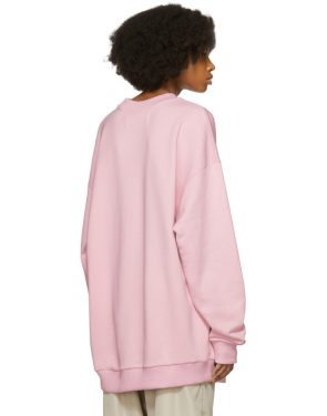photo Pink Oversized Sweatshirt Dress by Marques Almeida - Image 3