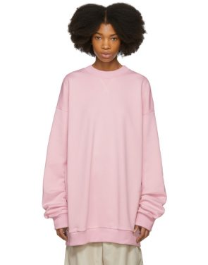photo Pink Oversized Sweatshirt Dress by Marques Almeida - Image 1