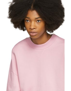 photo Pink Oversized Sweatshirt Dress by Marques Almeida - Image 4