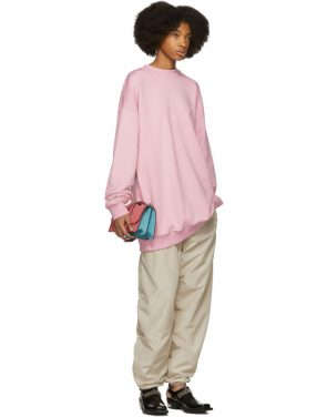 photo Pink Oversized Sweatshirt Dress by Marques Almeida - Image 5