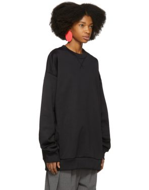 photo Black Oversized Sweatshirt Dress by Marques Almeida - Image 2