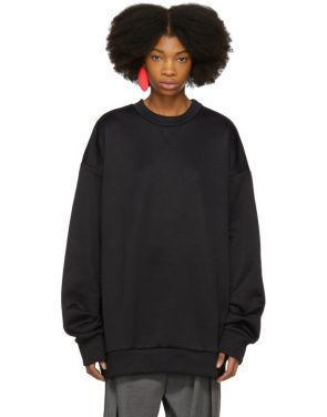 photo Black Oversized Sweatshirt Dress by Marques Almeida - Image 1
