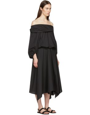 photo Black Bouffant Sleeve Off-The-Shoulder Dress by Enfold - Image 2