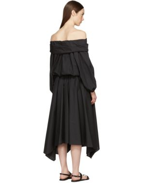 photo Black Bouffant Sleeve Off-The-Shoulder Dress by Enfold - Image 3