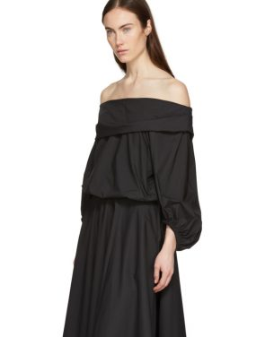 photo Black Bouffant Sleeve Off-The-Shoulder Dress by Enfold - Image 4