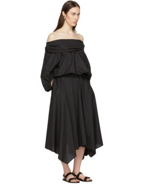 photo Black Bouffant Sleeve Off-The-Shoulder Dress by Enfold - Image 5